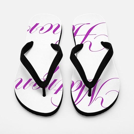 Matron of Honor Fancy Flip Flops