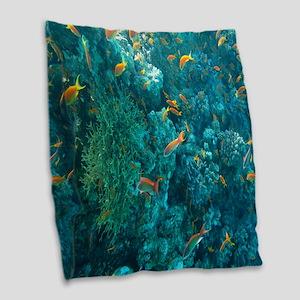 Ocean life Burlap Throw Pillow