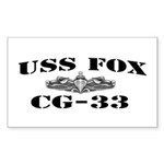 USS FOX Sticker (Rectangle)