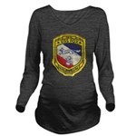 USS FOX Long Sleeve Maternity T-Shirt