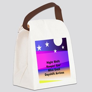 Night Shift Canvas Lunch Bag
