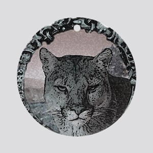 mountain lion hunter  Ornament (Round)