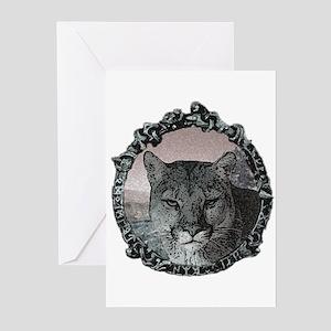 mountain lion hunter  Greeting Cards (Pk of 10