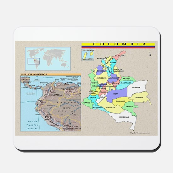 Location Colombia Mousepad