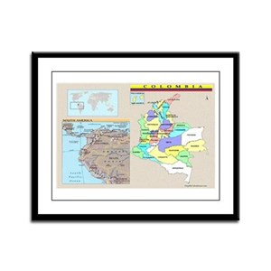 Location Colombia Framed Panel Print