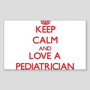 Keep Calm and Love a Pediatrician Sticker