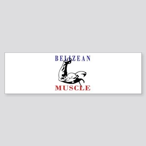 Belizean Muscle Bumper Sticker