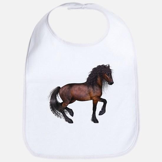 brown Horse 2 Bib