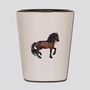 brown Horse 2 Shot Glass