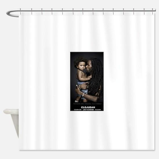 CLOJudah Fathers Shower Curtain