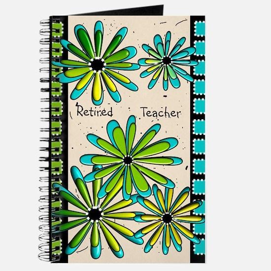 Retired Teacher Floral Journal