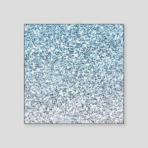 Silver Blue Glitters Sparkles Texture Sticker