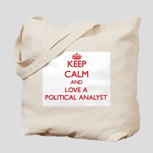 Keep Calm and Love a Political Analyst Tote Bag