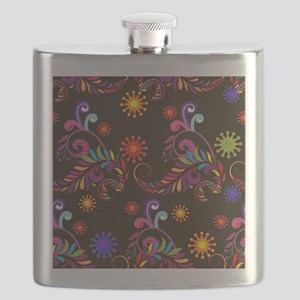 brite multi on black Flask