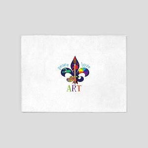 Peace Love Art 5'x7'Area Rug