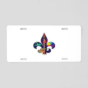 Fleur De Artist Aluminum License Plate