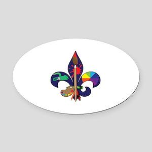 Fleur De Artist Oval Car Magnet