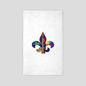 Fleur De Artist 3'x5' Area Rug