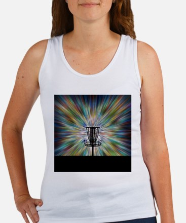 Disc Golf Basket Silhouette Tank Top