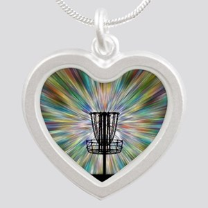 Disc Golf Basket Silhouette Necklaces