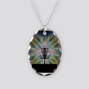 Disc Golf Basket Silhouette Necklace