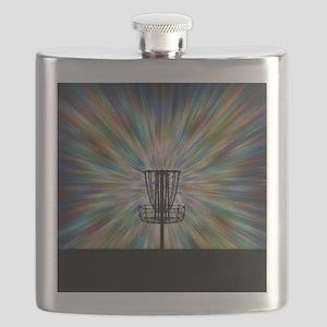 Disc Golf Basket Silhouette Flask