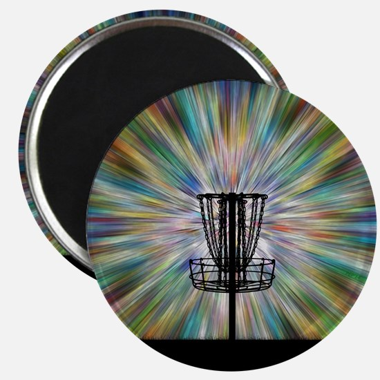 Disc Golf Basket Silhouette Magnets