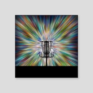 Disc Golf Basket Silhouette Sticker
