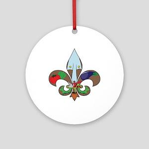 Fluer de Gardener Ornament (Round)