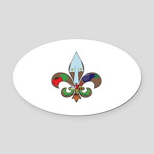 Fluer de Gardener Oval Car Magnet