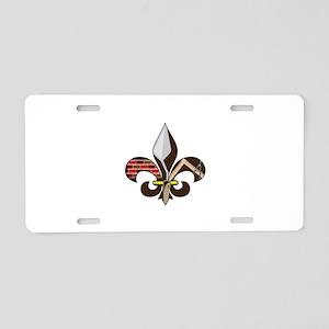 Fleur de Mason Aluminum License Plate