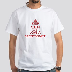 Keep Calm and Love a Receptionist T-Shirt