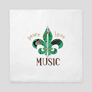 Peace Love Music Queen Duvet