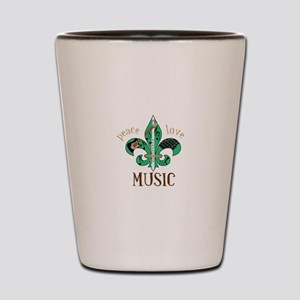 Peace Love Music Shot Glass