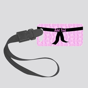 Martial Arts Kick Chick pink Small Luggage Tag