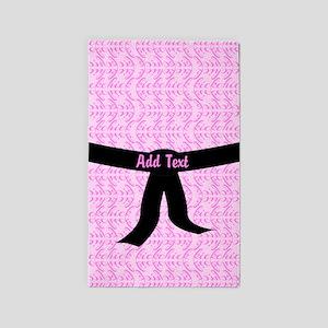 Martial Arts Kick Chick pink 3'x5' Area Rug