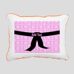 Martial Arts Kick Chick Rectangular Canvas Pillow