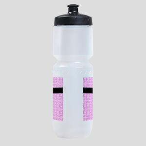 Martial Arts Kick Chick pink Sports Bottle