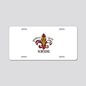 Peace Love Nursing Aluminum License Plate