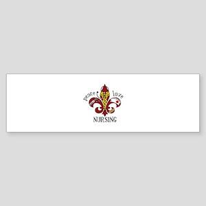Peace Love Nursing Bumper Sticker