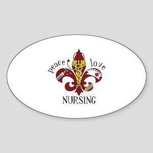 Peace Love Nursing Sticker