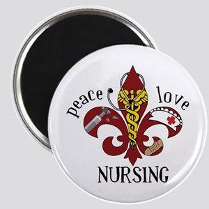 Peace Love Nursing Magnets