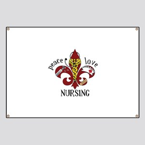 Peace Love Nursing Banner