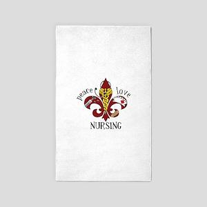 Peace Love Nursing 3'x5' Area Rug