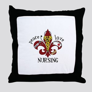 Peace Love Nursing Throw Pillow