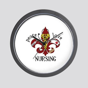 Peace Love Nursing Wall Clock