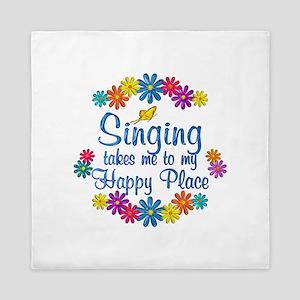 Singing Happy Place Queen Duvet