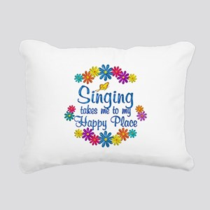 Singing Happy Place Rectangular Canvas Pillow