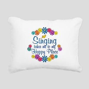 Singing Happy Place Rectangular Canvas Pillow