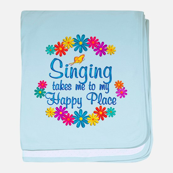 Singing Happy Place baby blanket
